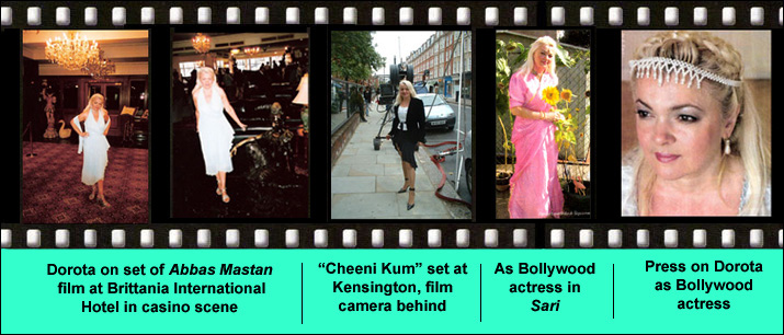 Actress Dorota Lopatynska-de-Slepowron in Bollywood films