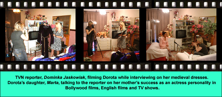 Actress Dorota Lopatynska-de-Slepowron in TV interview