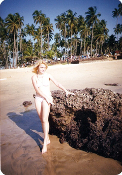 Dorota Lopatynska-de-Slepowron modeling at Goa in India