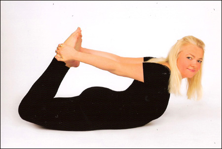 Model photo of Dorota Lopatynska-de-Slepowron in yoga in London