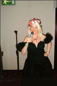 Dorota Lopatynska-de-Slepowron singing at Croydon in London